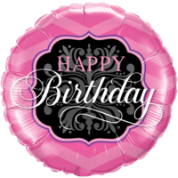 Happy Birthday Pink Foil Balloon Balloon in a Box