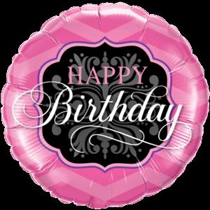 Happy Birthday Pink Foil Balloon Balloon in a Box