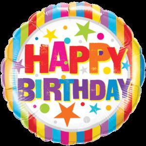 Stripes and Stars Birthday Foil Balloon Balloon in a Box