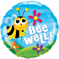 """Bee Well"" Colourful Flowers Foil Balloon"
