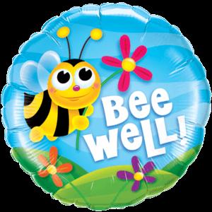 Bee & Flowers Foil Balloon Balloon in a Box
