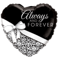 Love Heart Forever Foil Balloon Balloon in a Box