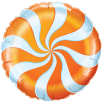 Candy Swirl Orange Foil Balloon