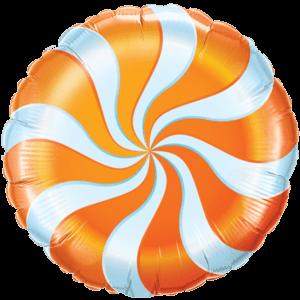 Swirly Orange Print Foil Balloon Balloon in a Box