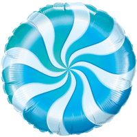 Swirly Blue Print Foil Balloon Balloon in a Box