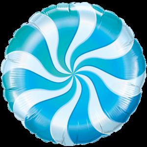 Swirly Blue Print Foil Balloon Balloon in a Box
