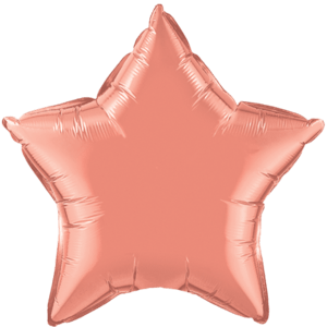 "20"" Coral Plain Star Balloon Product Display"