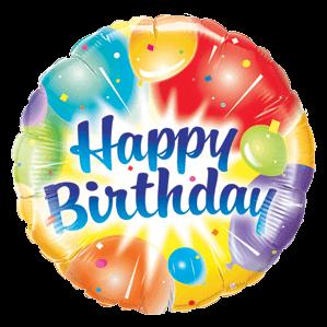 ColoursColours Ablaze Happy Birthday Balloon in a Box