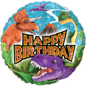 Happy Birthday Dinosaurs Balloon in a Box