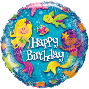 Happy Birthday Mermaid Balloon in a Box