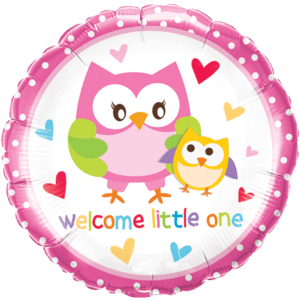 "18"" Welcome Little One Birds Balloon in a Box"