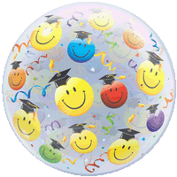 Graduate Smiles and Streamers Balloon in a Box