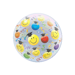 Graduate Colourful Smiley Faces Balloon in a Box