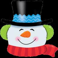 Smilin' Snowman Head Balloon in a Box