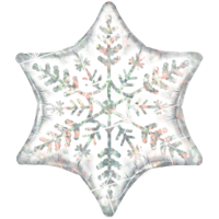 Shimmering Snowflake Foil Balloon