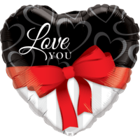 Love You Red Ribbon Balloon in a Box