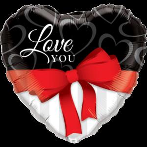 Love You Ribbon Balloon in a Box