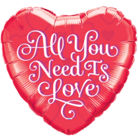 Heart All You Need Is Love Balloon in a Box