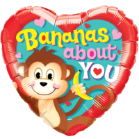 Bananas About You Heart Monkey Balloon in a Box