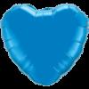 """18"""" Heart Sapphire Blue Foil Balloon overview"""