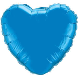 """18"""" Sapphire Blue foil Heart Balloon Product Display"""