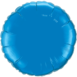 "18"" Sapphire Blue foil Round Balloon Product Display"