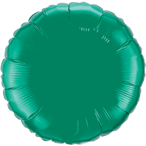 "18"" Emerald Green foil Round Balloon Product Display"
