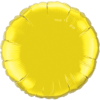 """18"""" Round Citrine Yellow Foil Balloon overview"""