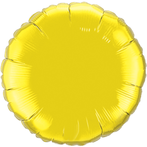 "18"" Citrine Yellow foil Round Balloon Product Display"