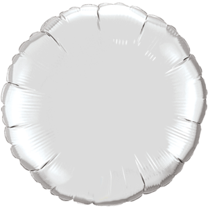 "18"" Silver foil Round Balloon Product Display"