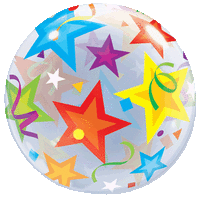 Colourful Stars Bubble Balloon in a Box