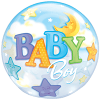 Starry Night Baby Boy Balloon in a Box
