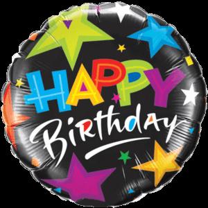 Black Star Birthday  Balloon in a Box