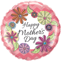 """18"""" Mother's Day Floral Balloon in a Box"""