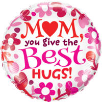 Floral Mum Best Hugs Balloon in a Box