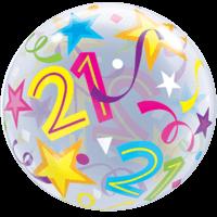 21 Stars & Streamers Bubble Balloon in a Box