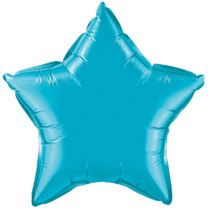 "20"" Turquoise foil Star Balloon Product Display"