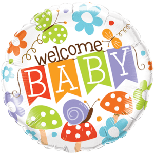 Colourful Welcome Baby Balloon in a Box