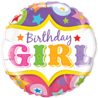 Circus Birthday Girl Balloon in a Box