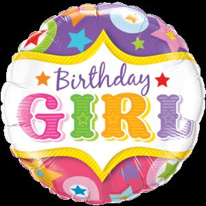 Circus Birthday Girl Balloon in a Box