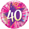 """18"""" Shining Star 40th Balloon overview"""