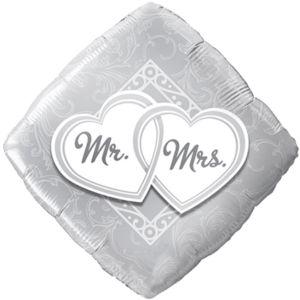 Mr & Mrs Entwined Balloon in a Box