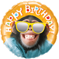 Happy Birthday Monkey Balloon in a Box