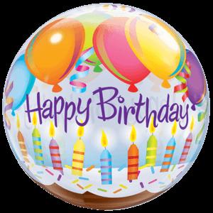 Happy Birthday Candles Bubble