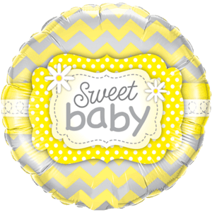 Yellow Sweet New Baby Balloon in a Box
