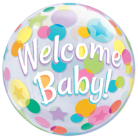 Welcome Baby Bubble Balloon in a Box