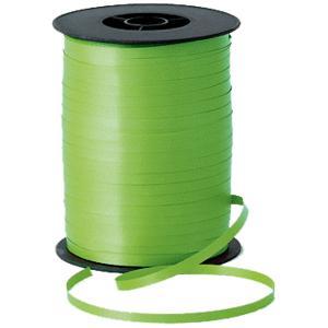 Matt Lime Green Curling Ribbon 500m Product Display