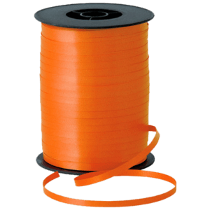 Matt Orange Curling Ribbon 500m Product Display
