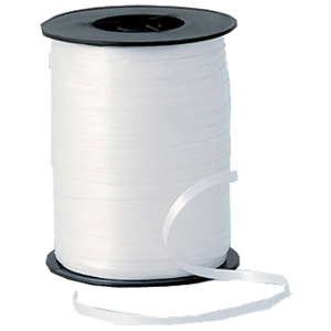 White Matt Curling Ribbon 500m Product Display