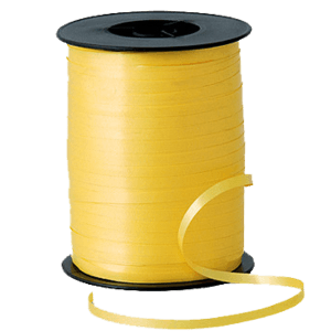 Matt Sunshine Yellow Curling Ribbon 500m Product Display